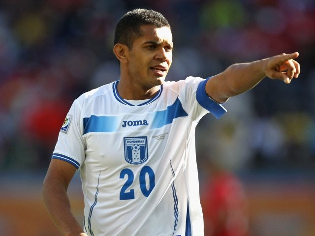 Honduras captain Amado Guevara in action at the World Cup in South Africa on June 16, 2010.