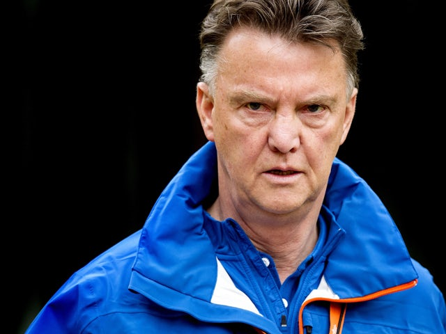 Netherlands' coach Louis van Gaal attends a training session of the Dutch national football team in Hoenderloo on May 7, 2014