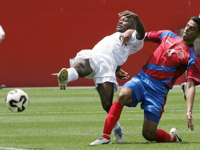 Milton Nunez in action for Honduras against Costa Rica on July 16, 2005.