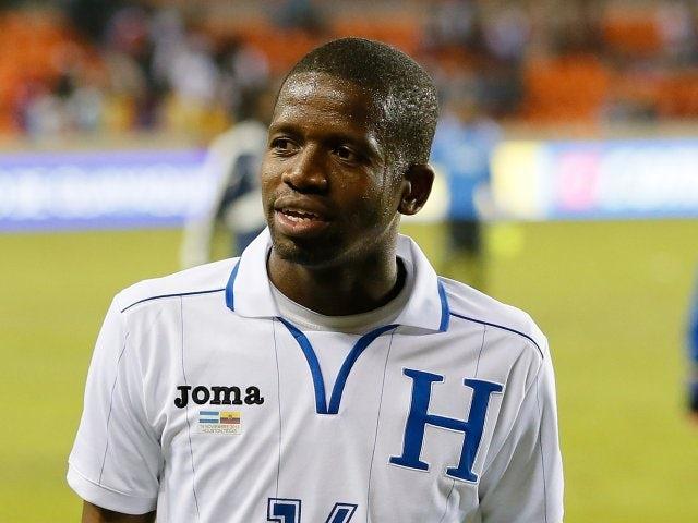 Oscar Boniek Garcia in action for Honduras against Ecuador on November 19, 2013.
