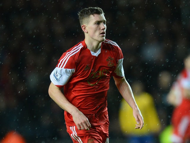 Sam Gallagher of Southampton in action during the Barclays Premier League match between Southampton and Arsenal at St Mary's Stadium on January 28, 2014