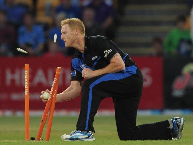 Ben Stokes makes a stumping for Durham on August 06, 2013.