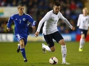 Arsenal defender Carl Jenkinson in action for England Under-21s against San Marino on November 11, 2013.