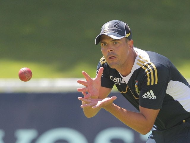 Jacques Rudolph takes part in a South African training session on December 29, 2012.