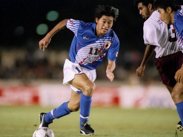 Japan's Kazuyoshi Miura in action against Oman on January 01, 1994.