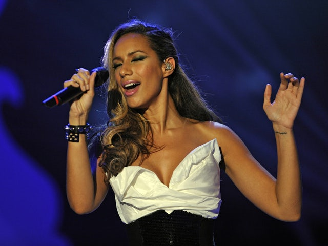 British singer Leona Lewis performs during the 185th edition of the TV show 'Wetten, dass..?' (Let's Make a Bet) on December 5, 2009