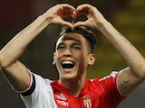 Monaco's Argentinian midfielder Lucas Ocampos celebrates after scoring a goal during the French L1 football match between Monaco (ASM) and Bordeaux (FCGB) on May 17, 2014