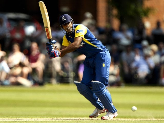 Varun Chopra plays a shot while in action for the Birmingham Bears on July 06, 2013.
