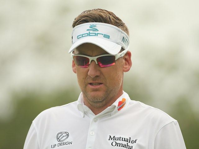 Ian Poulter of England during the final round of the 2014 Volvo China Open at Genzon Golf Clubat Genzon Golf Club on April 27, 2014