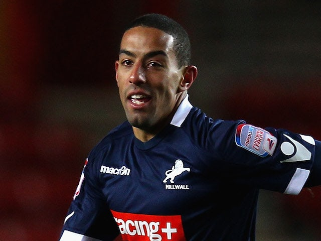 Liam Feeney of Millwall celebrates scoring the winning goal during the FA Cup Fourth Round Replay match between Southampton and Millwall at St Mary's Stadium on February 7, 2012