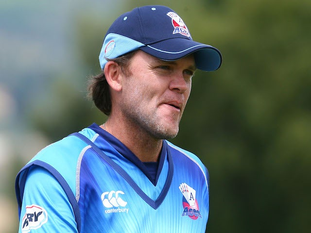 Lou Vincent of Auckland looks on during the Twenty20 match between Otago and Auckland at Queenstown Events Centre on December 31, 2012