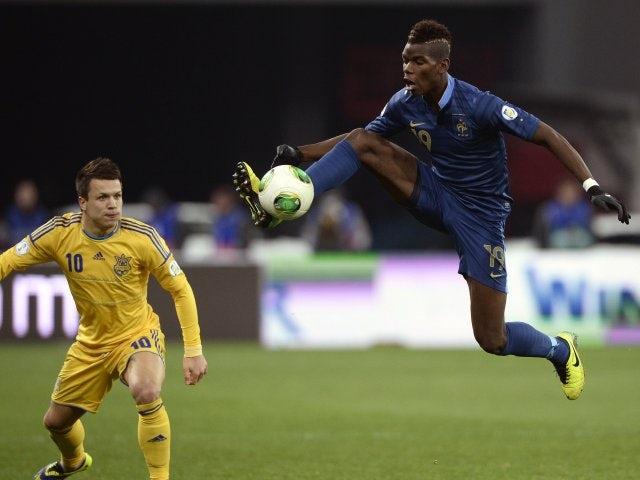 Juventus midfielder Paul Pogba in action for France against Ukraine on November 15, 2013.