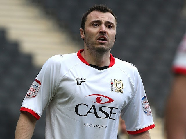 Antony Kay of MK Dons in action during the npower League One match between MK Dons and Tranmere Rovers at Stadium MK on March 16, 2013