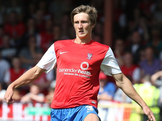 Ben Davies of York City in action during the Sky Bet League Two match between York City and Northampton Town at Bootham Crescent on August 3, 2013