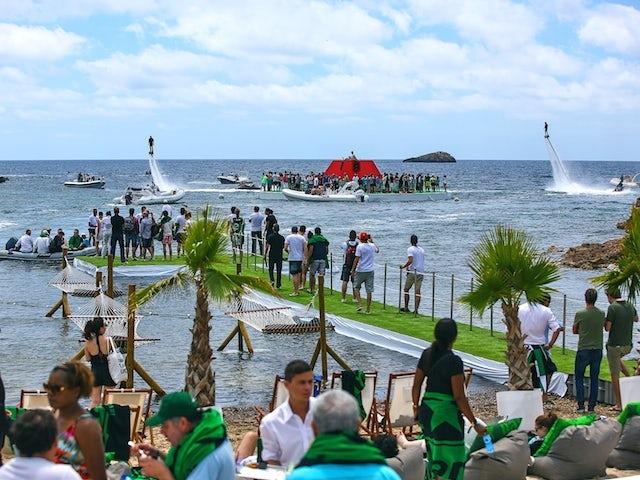 The 'Heineken Bay' in Ibiza on May 24, 2014