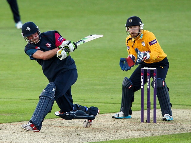 Rob Key of Kent hits out during the Natwest T20 Blast match between Hampshire and Kent Spitfires at Ageas Bowl on June 5, 2014