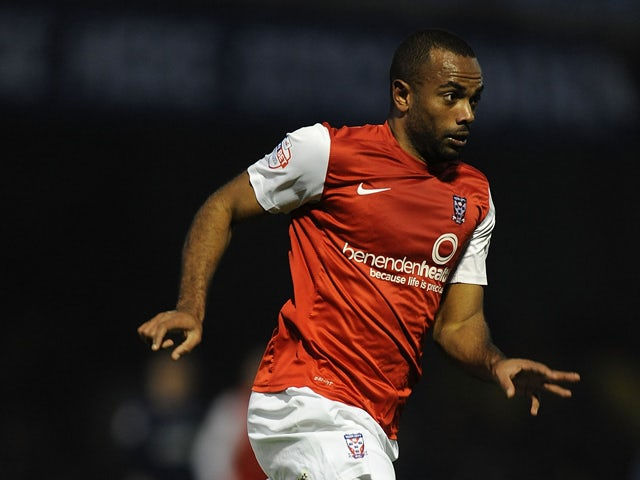 Lanre Oyebanjo of York City in action during the Sky Bet League Two match between Southend United and York City at Roots Hall on November 23, 2013