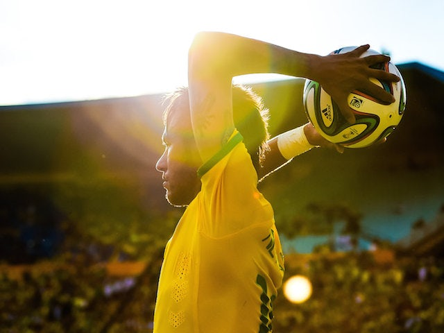 Neymar of Brazil in action during the International Friendly against Panama at Serra Dourada Stadium on June 3, 2014 in Goiania, Brazil