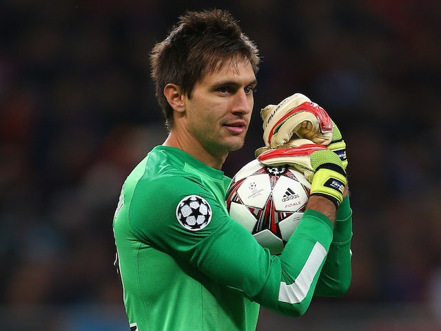 Ciprian Tatarusanu of Steaua Bucuresti during the UEFA Champions League Group E Match against Chelsea on October 1, 2013