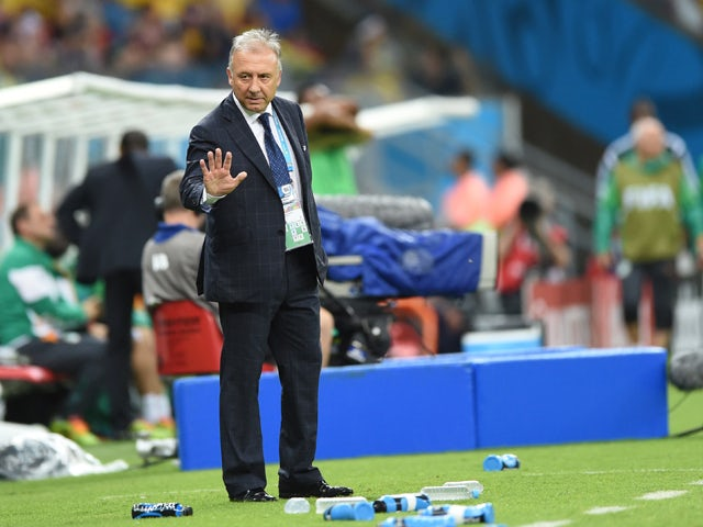 Japan's Italian coach Alberto Zaccheroni gestures during a Group C football match between Ivory Coast and Japan at the Pernambuco Arena in Recife during the 2014 FIFA World Cup on June 14, 2014