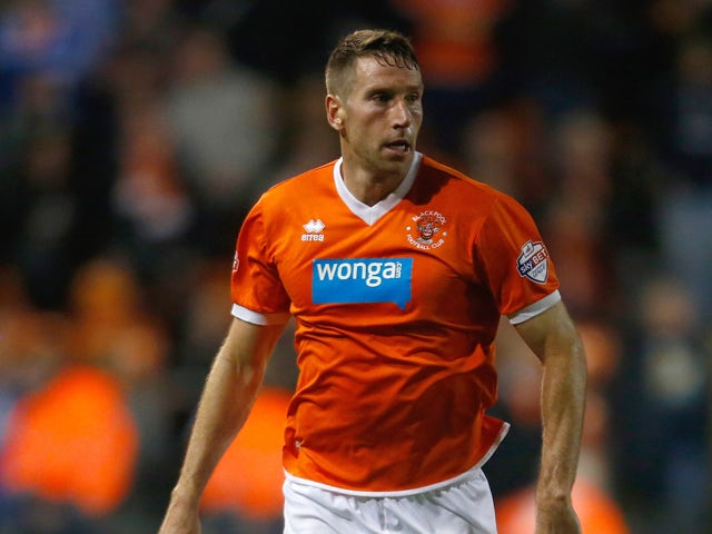 Kirk Broadfoot of Blackpool in action during the Sky Bet Championship match between Blackpool and Bolton Wanderers at Bloomfield Road on October 01, 2013