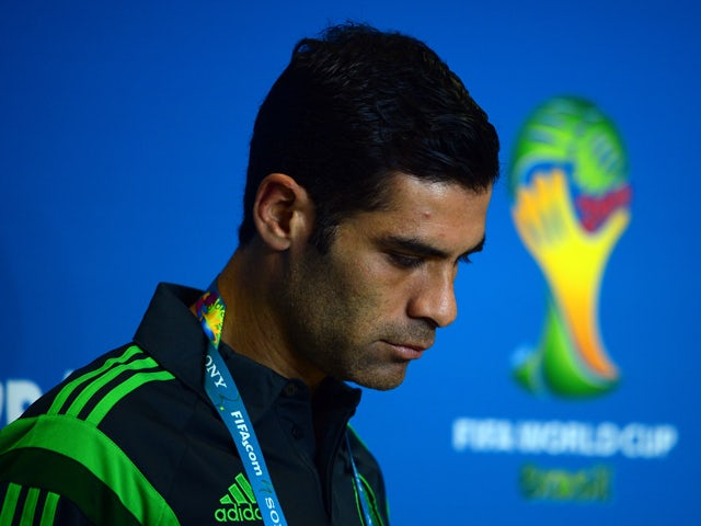 Mexico's defender Rafael Marquez arrives for a press conference at the Las Dunas stadium in Natal, Brazil, on June 12, 2014