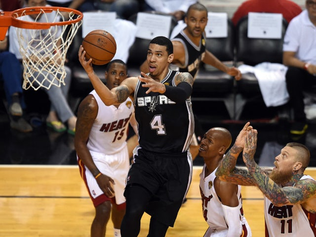 Danny Green of the San Antonio Spurs during Game 3 of the 2014 NBA Finals June 10, 2014