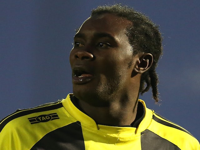 Calvin Zola of Burton Albion in action during the npower League Two match between Northampton Town and Burton Albion at Sixfields Stadium on January 19, 2013