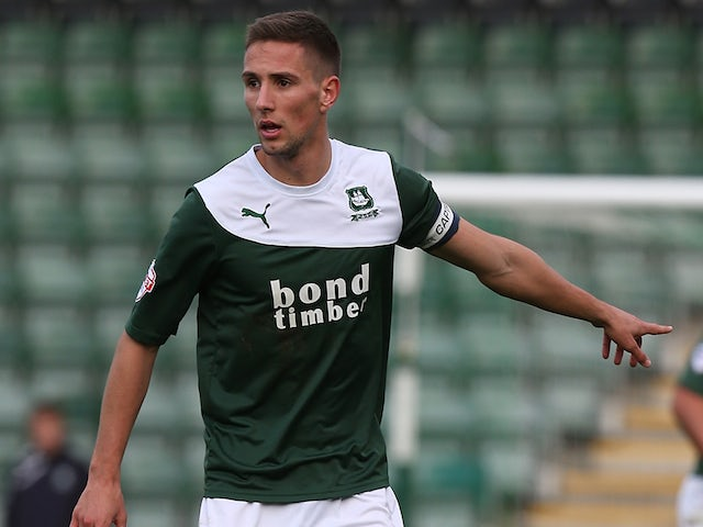 Conor Hourihane of Plymouth Argyle in action during the Sky Bet League Two match between Plymouth Argyle and Northampton Town at Home Park on November 2, 2013