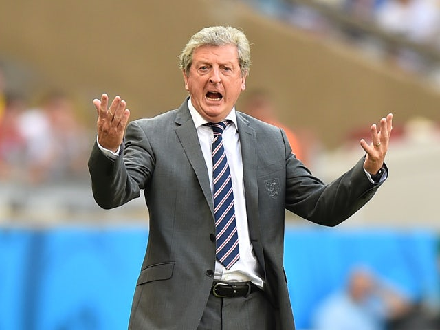 England's coach Roy Hodgson gestures during the Group D football match between Costa Rica and England at The Mineirao Stadium in Belo Horizonte on June 24, 2014