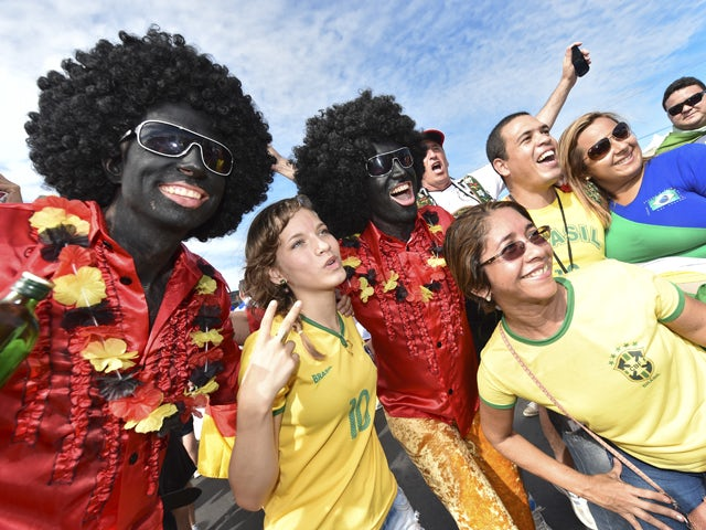 Fans arrive at Arena Castelao stadium for the Germany v Ghana: Group G match during the 2014 FIFA World Cup Brazil on June 21, 2014