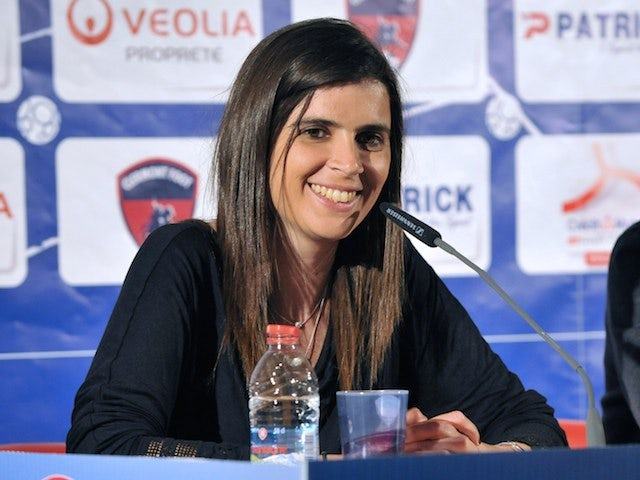 Portugese Helena Costa (L) gives a press conference on May 22, 2014