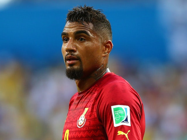 Kevin-Prince Boateng of Ghana looks on during the 2014 FIFA World Cup Brazil Group G match between Germany and Ghana at Castelao on June 21, 2014