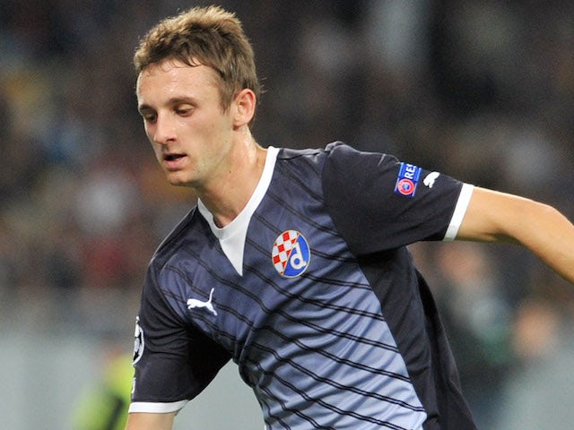 Marcelo Brozovic of GNK Dinamo Zagreb in action during the UEFA Champions League group stage match against FC Dynamo Kyiv on October 3, 2012
