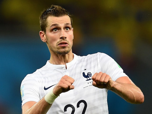 Morgan Schneiderlin of France heads the ball during the 2014 FIFA World Cup Brazil Group E match between Ecuador and France at Maracana on June 25, 2014