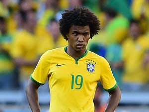 Half-Time Report: Willian secures lead for Brazil