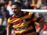 James Meredith of Bradford City in action during the npower League Two match against Northampton Town on April 6, 2013