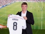 Toni Kroos is officially unveiled as a Real Madrid player on July 17, 2014