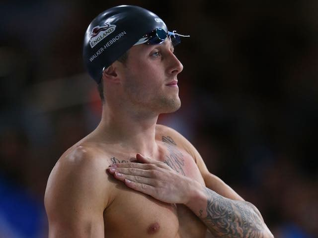 England's Chris Walker-Hebborn ahead of the men's 50m backstroke semi-final on July 26, 2014