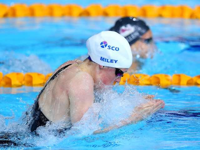 England's Hannah Miley during the 200m individual medley heat on July 27, 2014