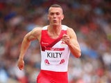 England's Richard Kilty during the men's 100m heats on July 27, 2014