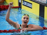 Taylor McKeown of Australia celebrates winning the gold medal after the Women's 200m Breaststroke Final at Tollcross International Swimming Centre during day three of the Glasgow 2014 Commonwealth Games on July 26, 2014