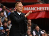 Swansea City's English manager Garry Monk gestures during the English Premier League football match between Manchester United and Swansea City at Old Trafford in Manchester, north west England on August 16, 2014
