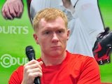 Retired Manchester United midfielder Paul Scholes, 39, attends a press conference during a promotional trip in Singapore on March 22, 2014