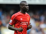 Liverpool's Italian striker Mario Balotelli plays during the English Premier League football match between Tottenham Hotspur and Liverpool at White Hart Lane in London on August 31, 2014