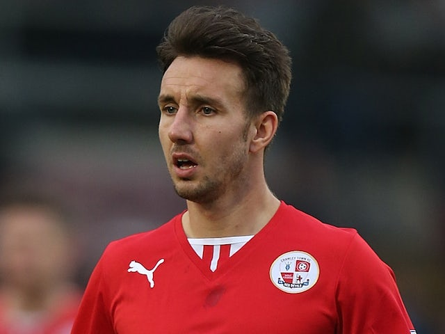 Matt Tubbs of Crawley Town in action during the Sky Bet League One match between Coventry City and Crawley Town at Sixfields Stadium on January 12, 2014