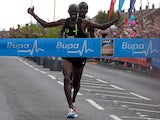 Mo Farah of Britain wins the Great North Run on September 7, 2014