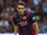 Munir El Haddadi of FC Barcelona in action during the pre-season friendly match between FC Barcelona and SSC Napoli on August 6, 2014