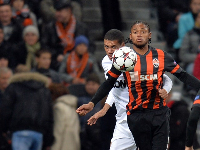 FC Shakhtar's Luiz Adriano during their European Champions League football match FC Shakhtar vs Manchester United in Donetsk on October 2, 2013