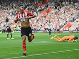 Jack Cork of Southampton celebrates as he scores their third goal during the Barclays Premier League match between Southampton and Newcastle United at St Mary's Stadium on September 13, 2014